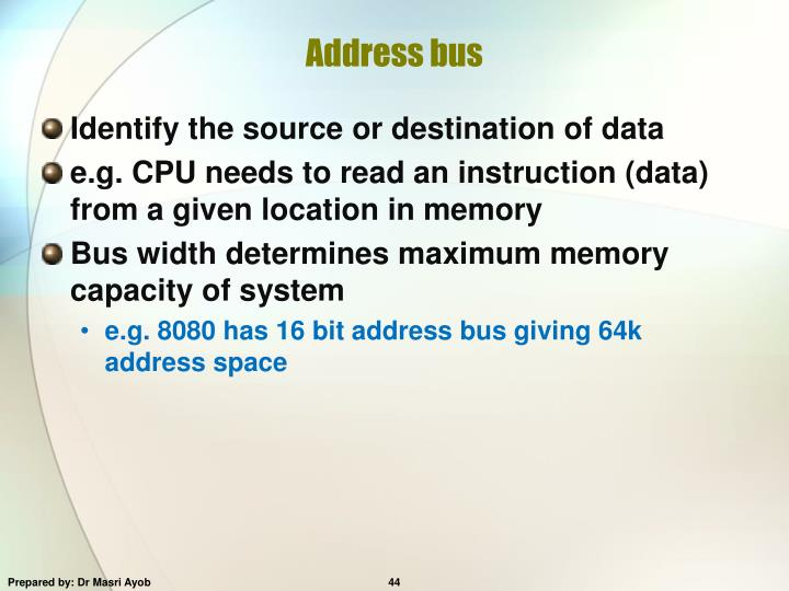 Address bus