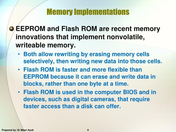 Memory Implementations