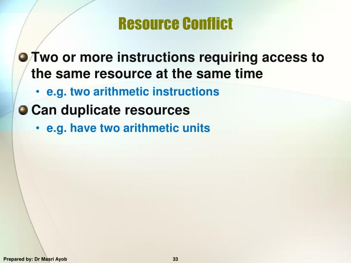 Resource Conflict