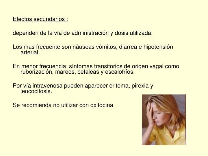 Efectos secundarios :