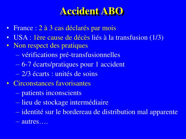 Accident abo