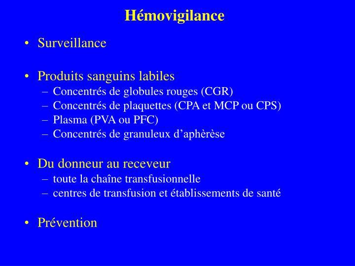 Hémovigilance