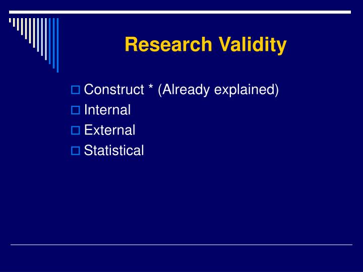 validity research