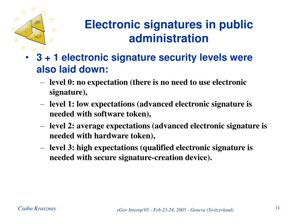 Electronic signatures in public administration