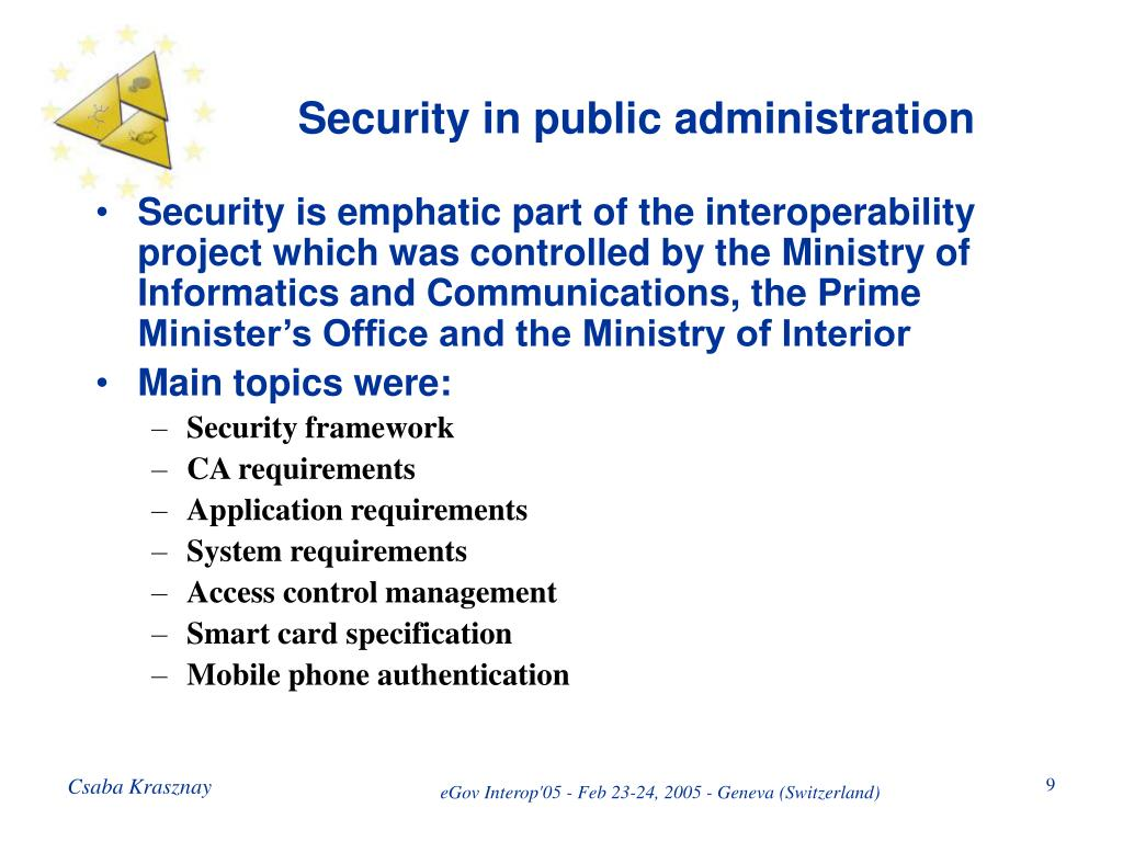 Security in public administration