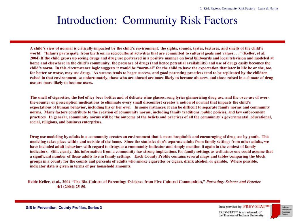 Introduction:  Community Risk Factors
