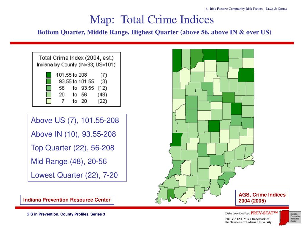 Map:  Total Crime Indices