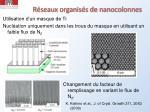 r seaux organis s de nanocolonnes