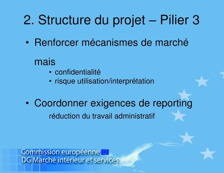 2. Structure du projet – Pilier 3