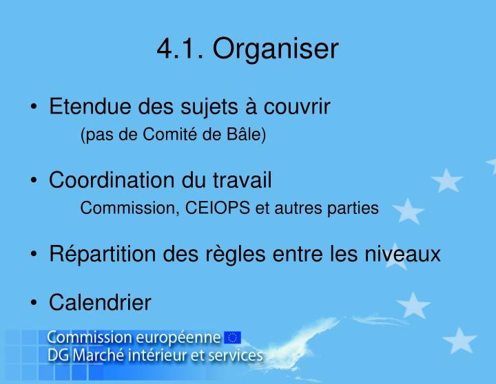 4.1. Organiser