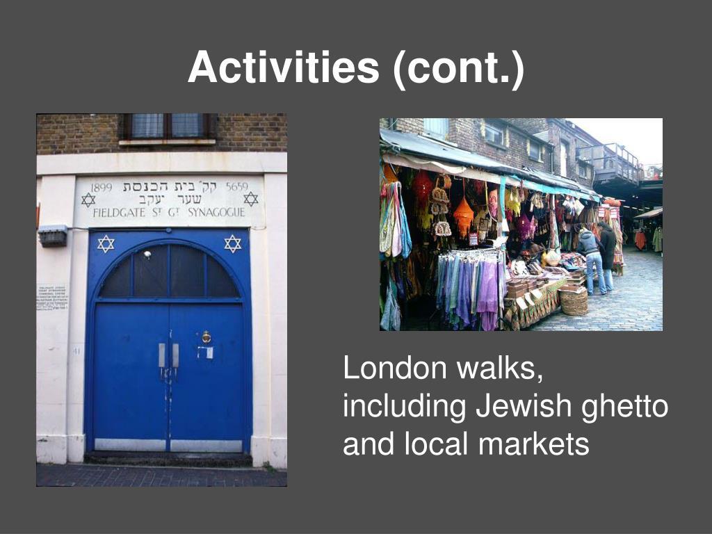 Activities (cont.)