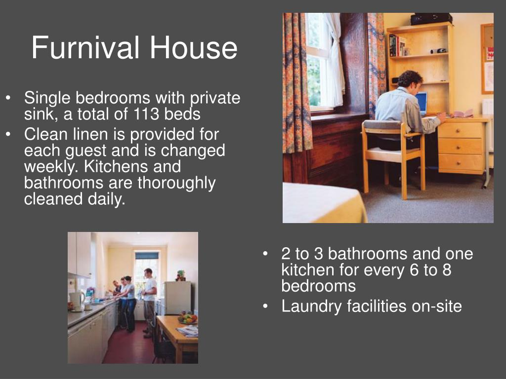 Single bedrooms with private sink, a total of113 beds