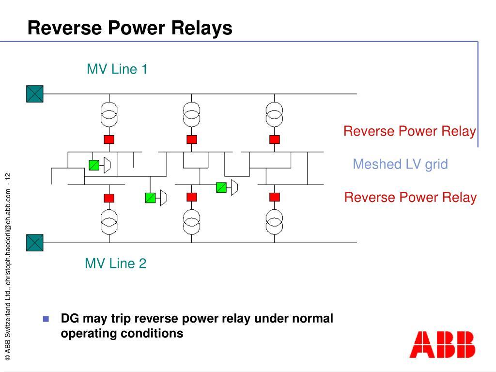 Reverse Power Relays