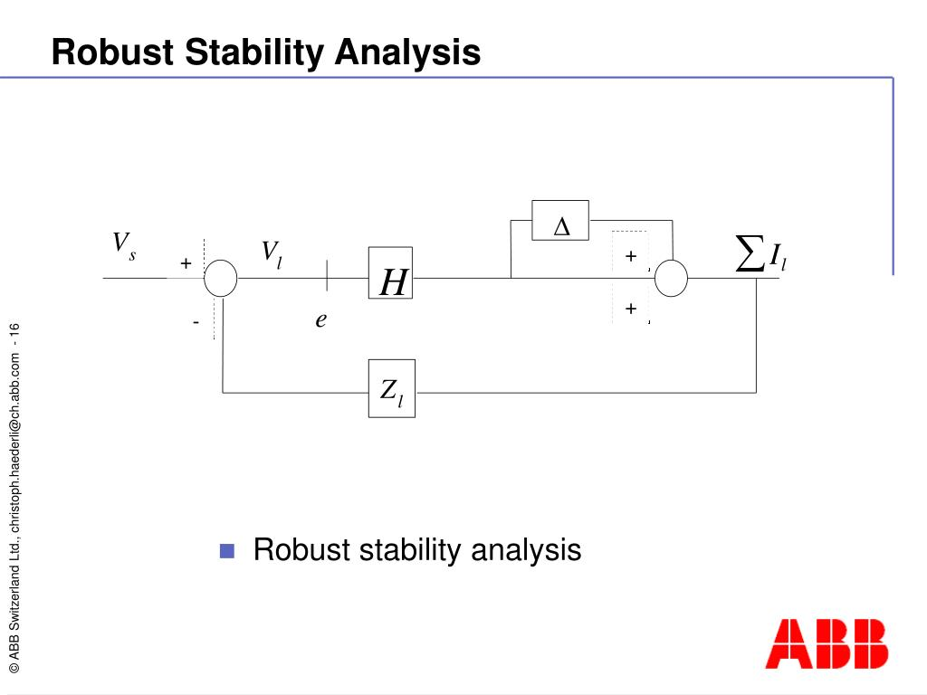 Robust Stability Analysis