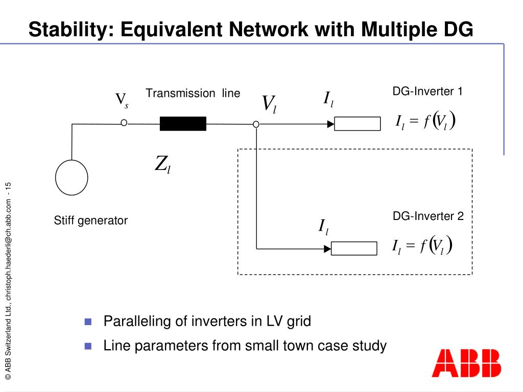 Stability: Equivalent Network with Multiple DG