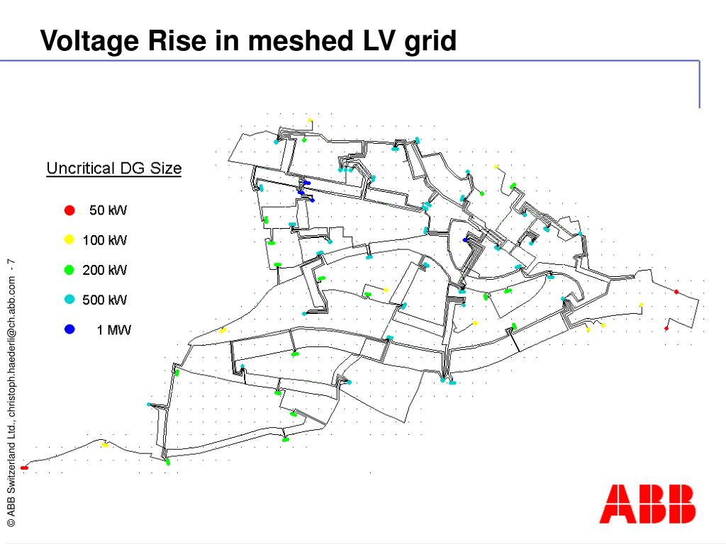 Voltage Rise in meshed LV grid