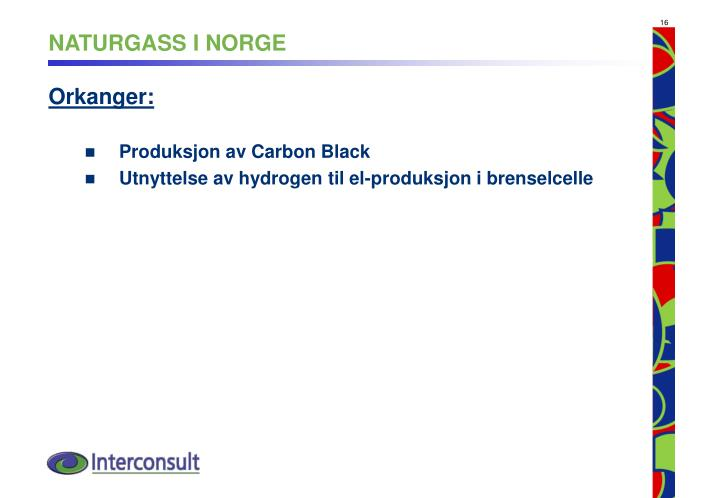 NATURGASS I NORGE