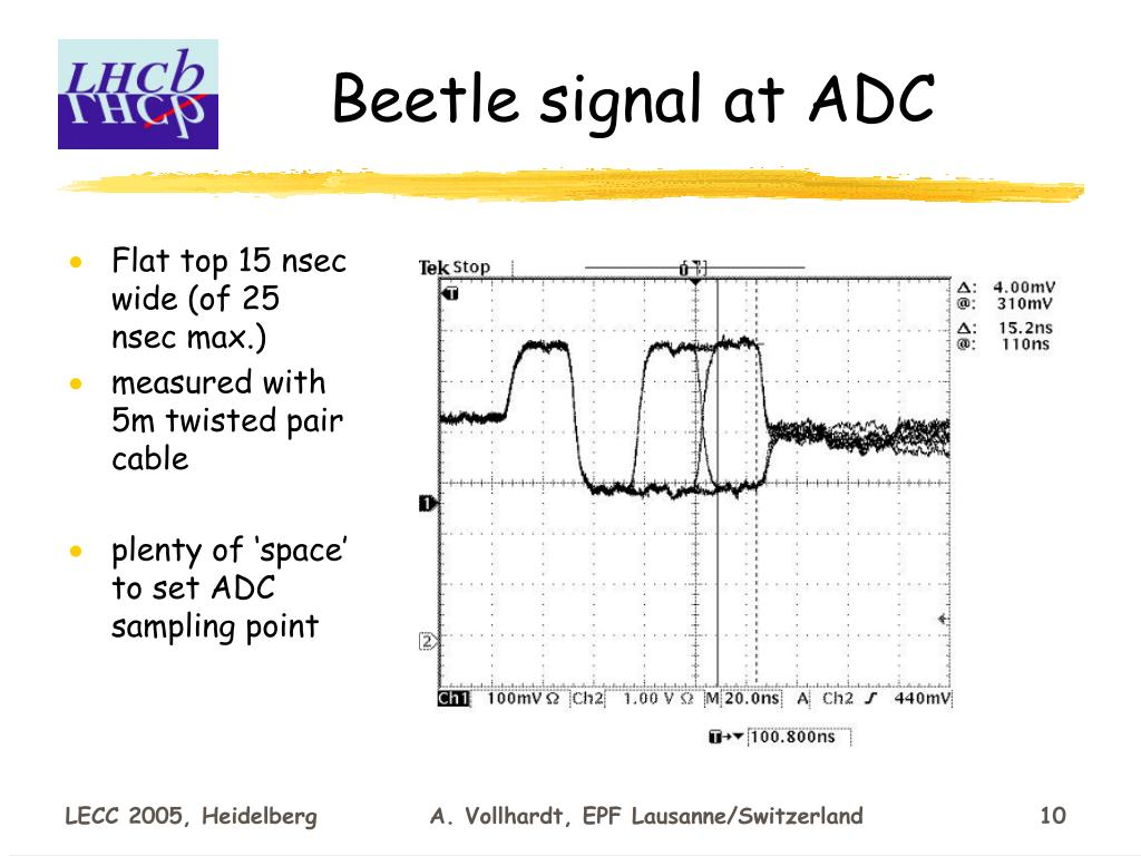 Beetle signal at ADC
