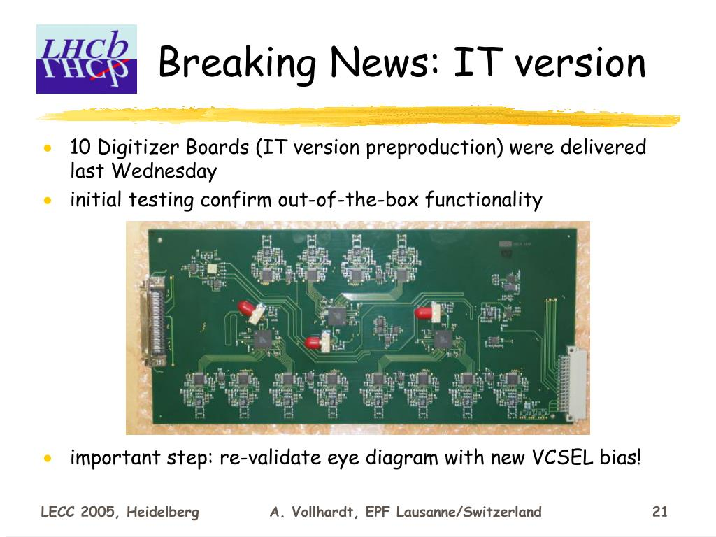 Breaking News: IT version