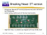 breaking news it version