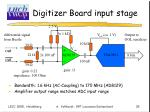 digitizer board input stage