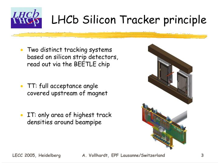 Lhcb silicon tracker principle