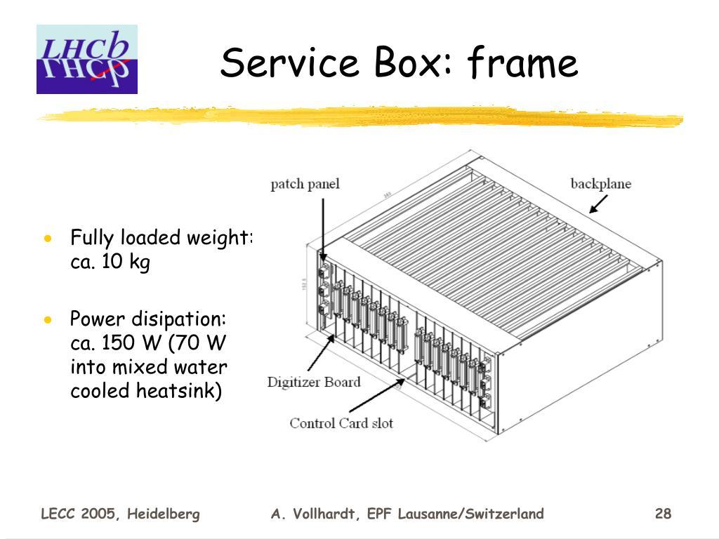 Service Box: frame