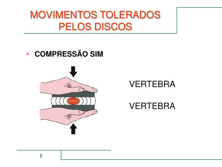 MOVIMENTOS TOLERADOS