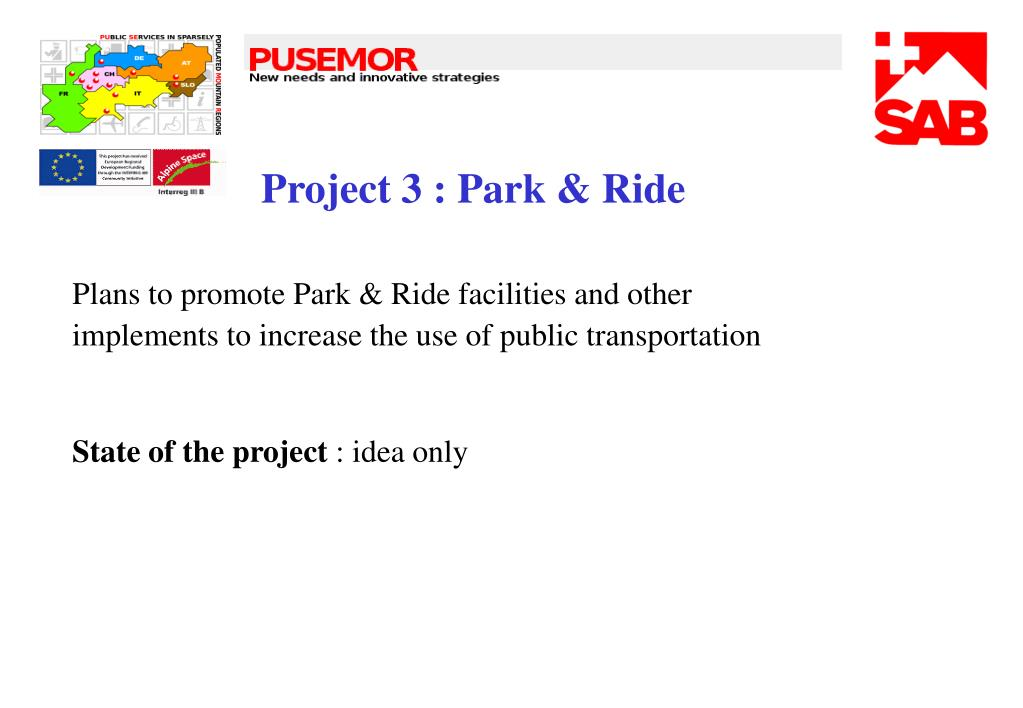 Project 3 : Park & Ride