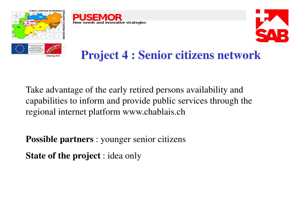 Project 4 : Senior citizens network