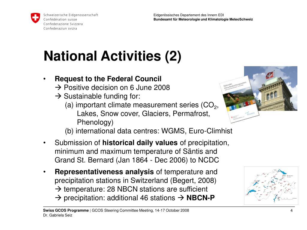 National Activities (2)