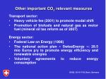 other important co 2 relevant measures