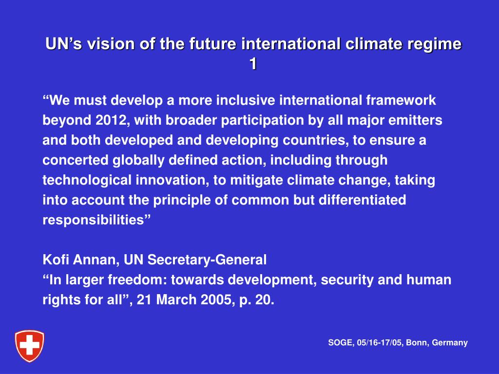 UN's vision of the future international climate regime
