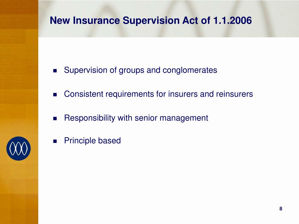 New Insurance Supervision Act of 1.1.2006