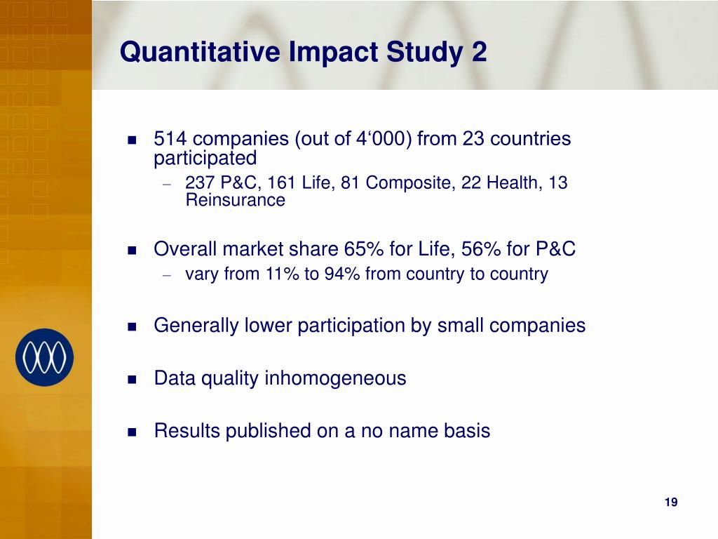 Quantitative Impact Study 2