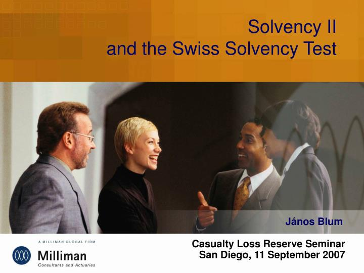 Solvency ii and the swiss solvency test l.jpg