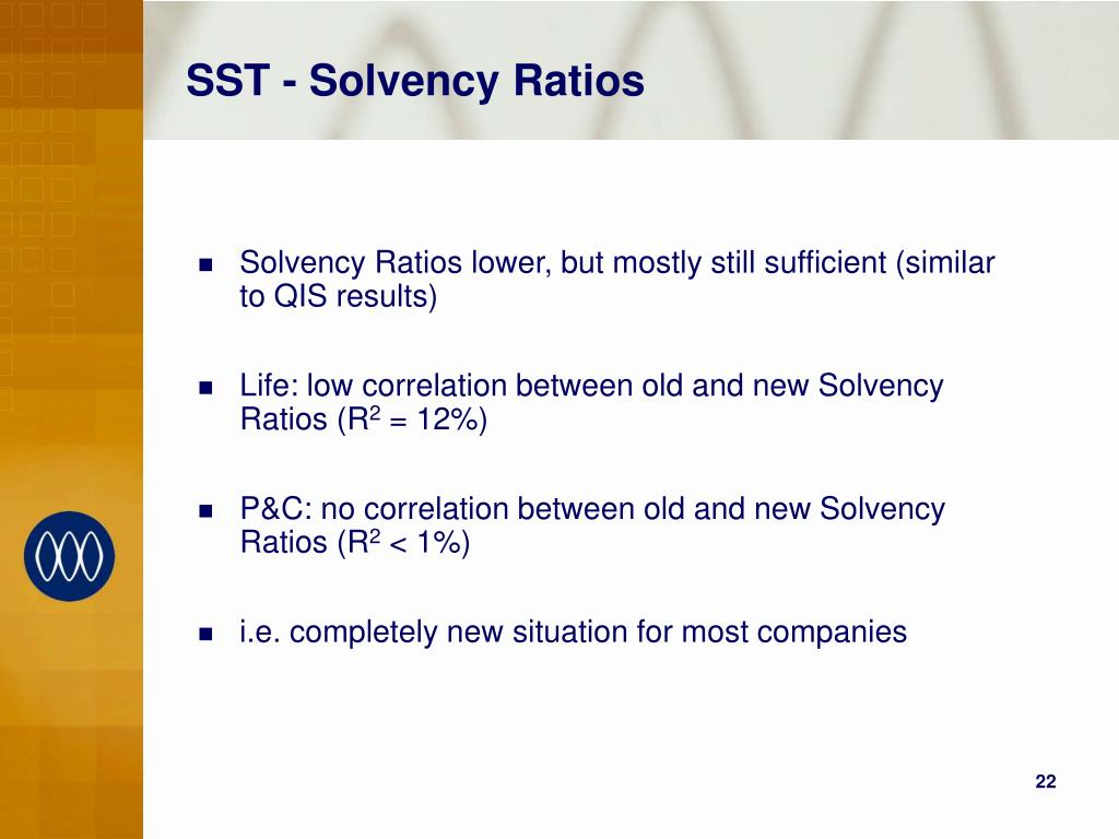 SST - Solvency Ratios