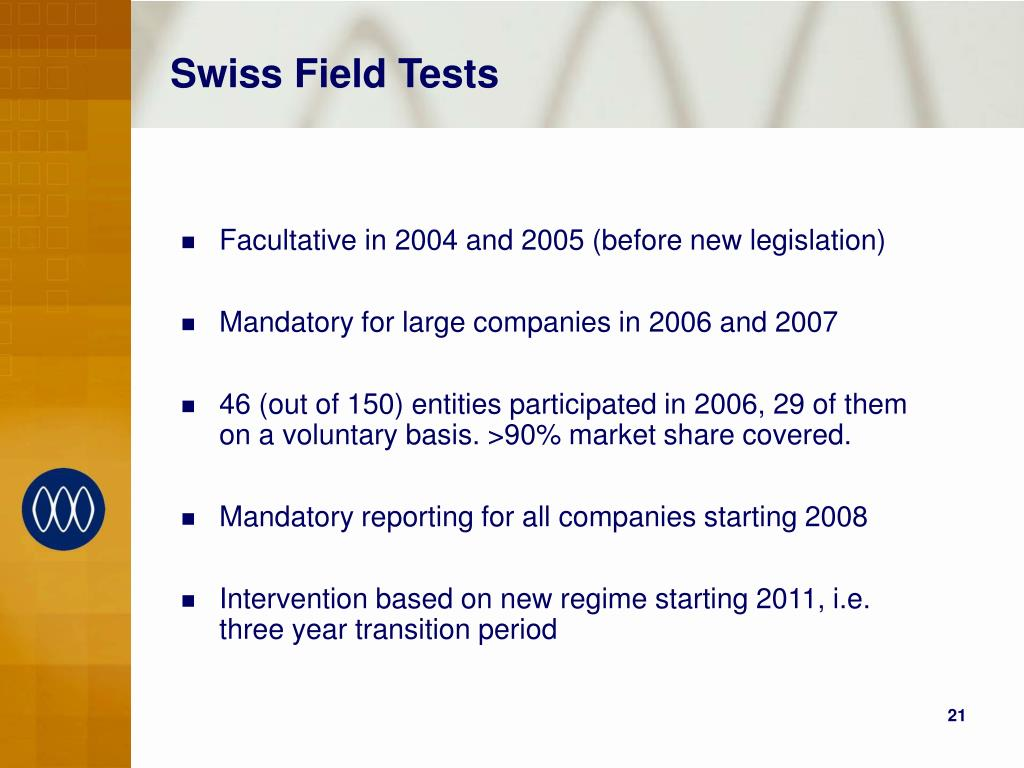 Swiss Field Tests