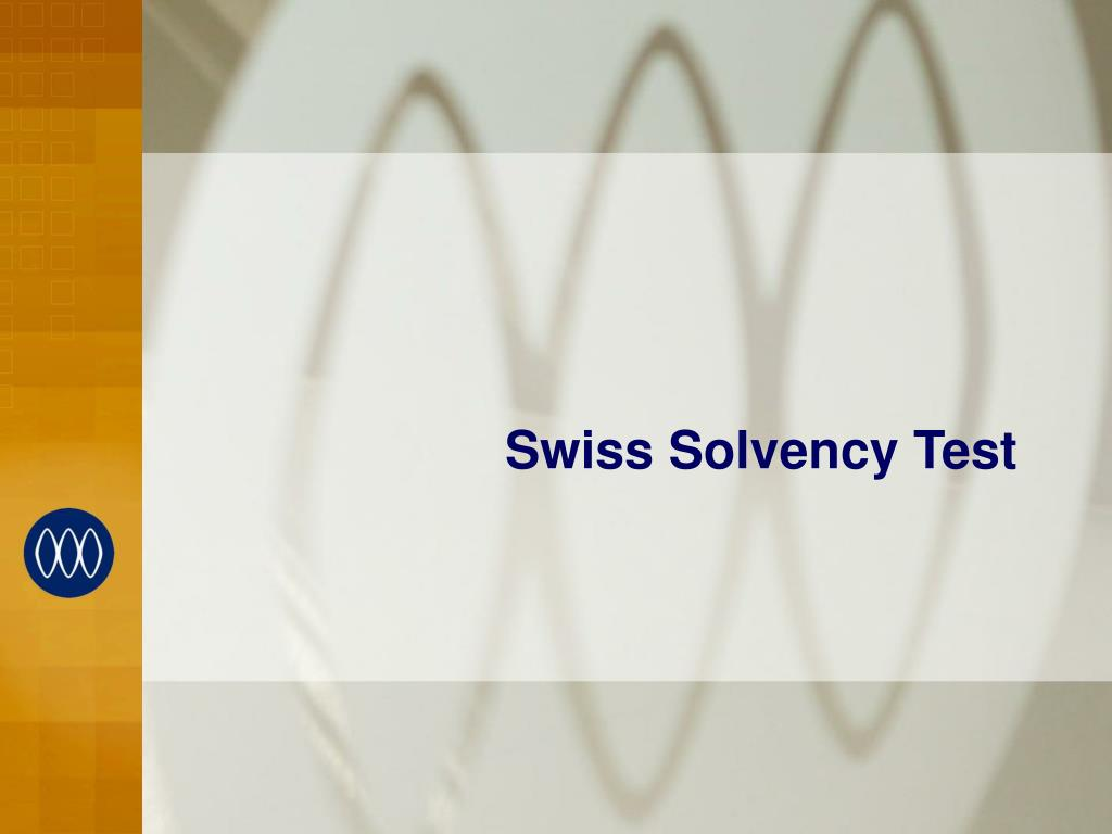 Swiss Solvency Test