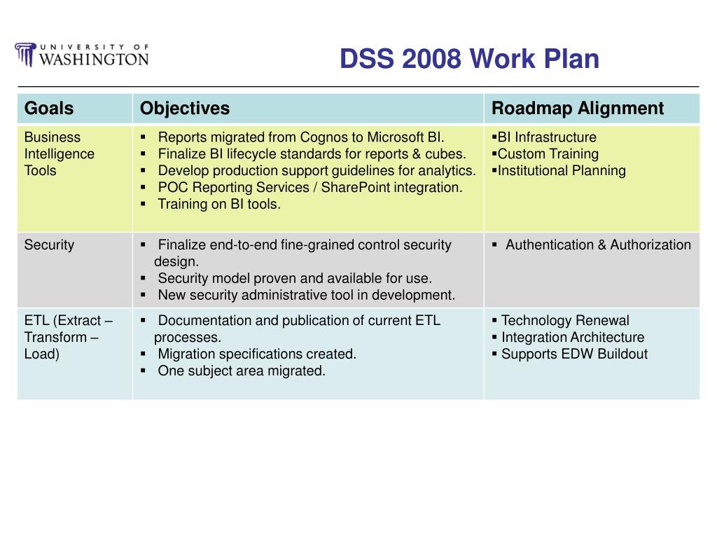 DSS 2008 Work Plan