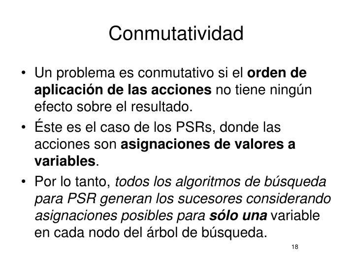 Conmutatividad