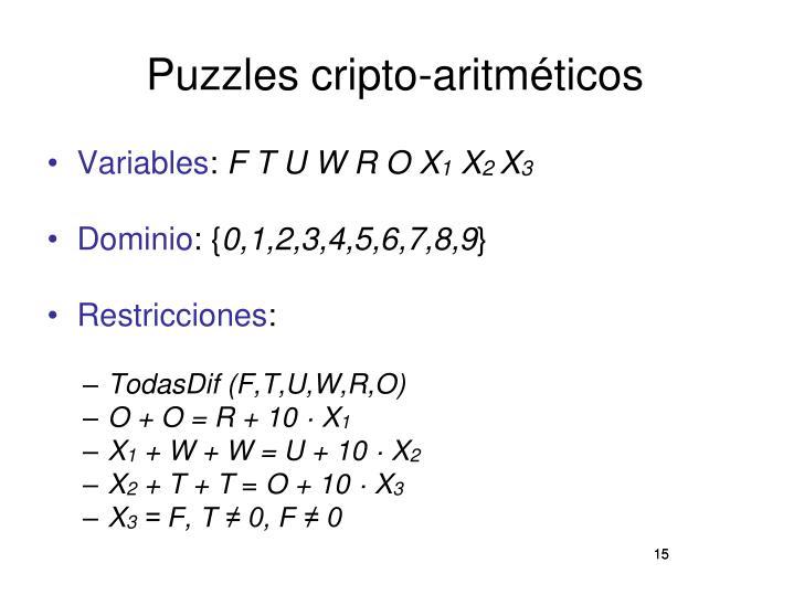 Puzzles cripto-aritméticos