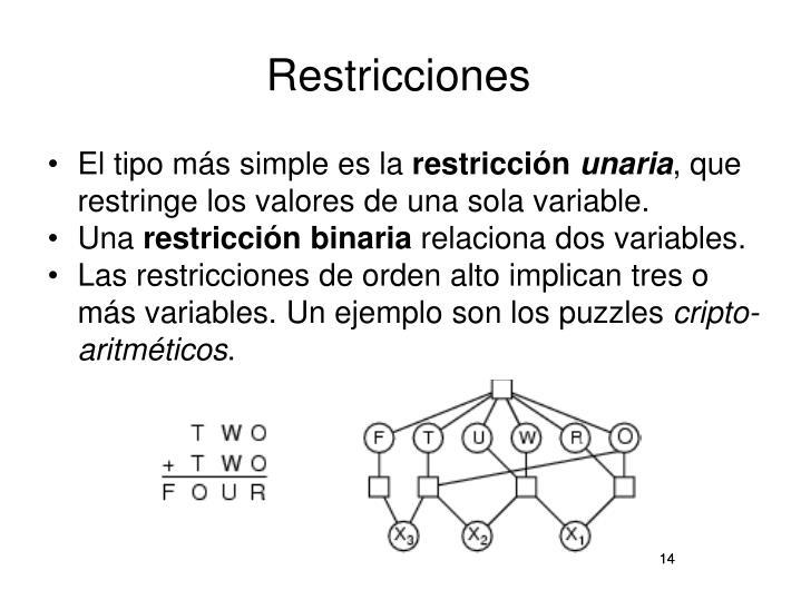 Restricciones