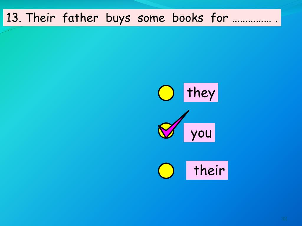 13. Their  father  buys  some  books  for …………… .