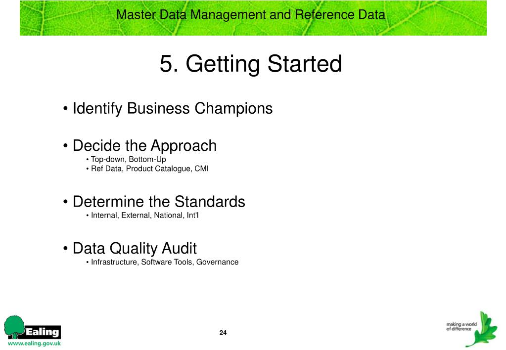 Identify Business Champions
