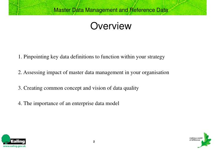 Master data management and reference data overview l.jpg