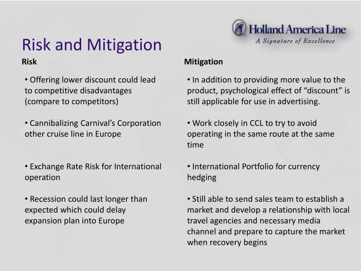 Risk and Mitigation