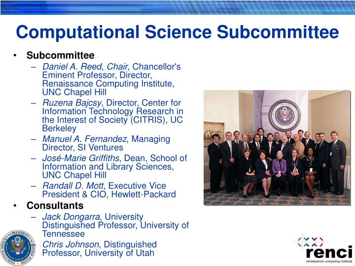 Computational Science Subcommittee