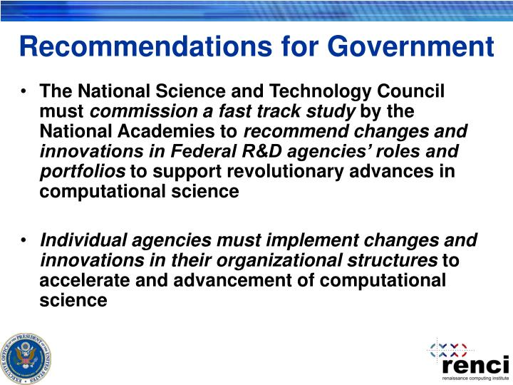 Recommendations for Government