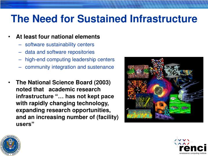 The Need for Sustained Infrastructure